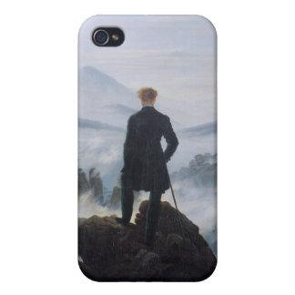 El vagabundo sobre el mar de la niebla iPhone 4 cárcasas