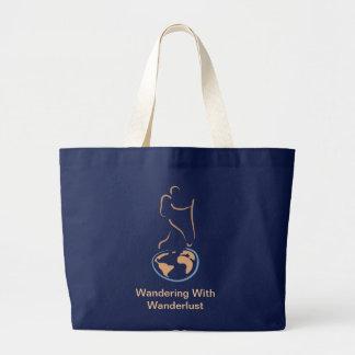 El vagar con el bolso del Wanderlust Bolsa De Mano