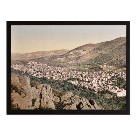 El valle de Napulus, (es decir, Nablus), cla de la Postal