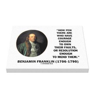 El valor posee su cita de Franklin de la Impresion En Lona
