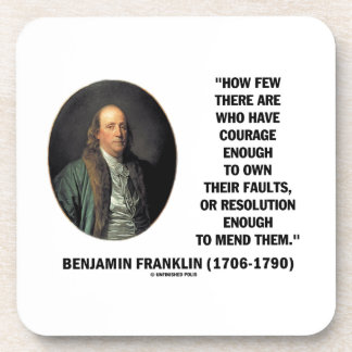 El valor posee su cita de Franklin de la Posavasos