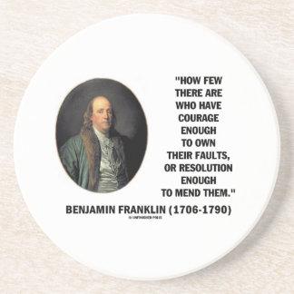 El valor posee su cita de Franklin de la Posavasos De Arenisca