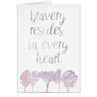 El valor reside en cada corazón tarjeta de felicitación