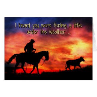 El vaquero consigue bien, una mejor tarjeta linda