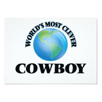 El vaquero más listo del mundo invitación 12,7 x 17,8 cm