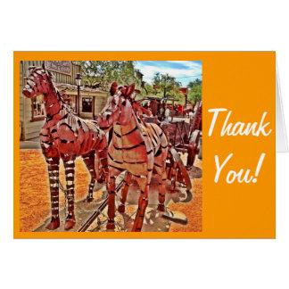 El vaquero occidental le agradece Notecards Tarjeta Pequeña