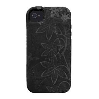 El vector oscuro florece el extracto iPhone 4 carcasas