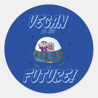 El vegano es el pegatina futuro