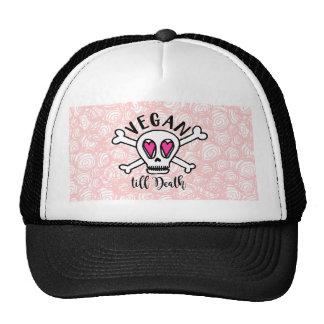 El vegano labra muerte gorras