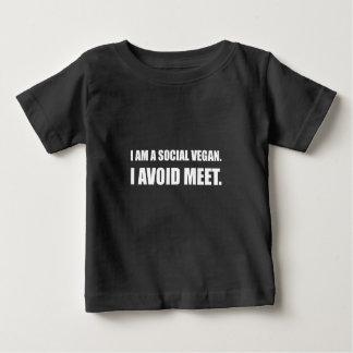 El vegano social evita la reunión camiseta de bebé