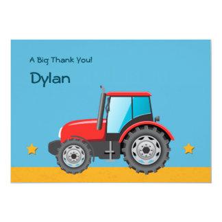El vehículo de la granja del tractor le agradece invitación 12,7 x 17,8 cm