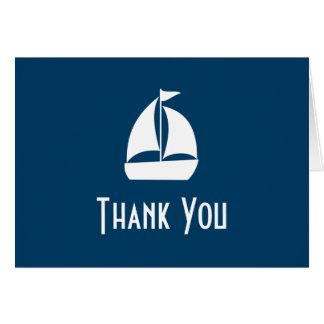 El velero le agradece las tarjetas de nota (los