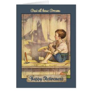 El velero soña - con verso - el retiro tarjeta de felicitación