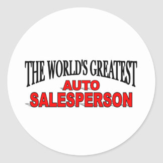 El vendedor auto más grande del mundo pegatinas redondas