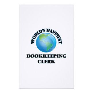El vendedor más feliz de la contabilidad del mundo papelería de diseño