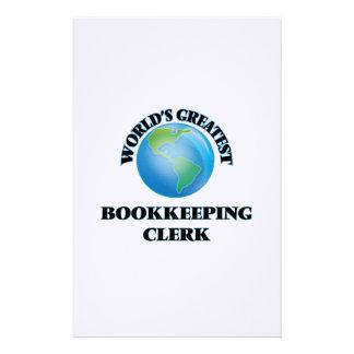 El vendedor más grande de la contabilidad del papeleria