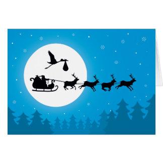 El venir a las tarjetas de Navidad del embarazo de