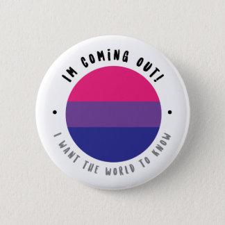 El venir hacia fuera - botón bisexual