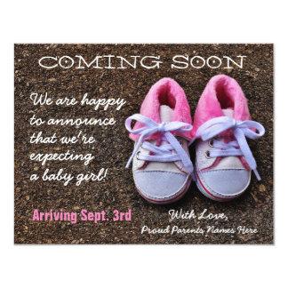 El venir pronto invitación del embarazo de los