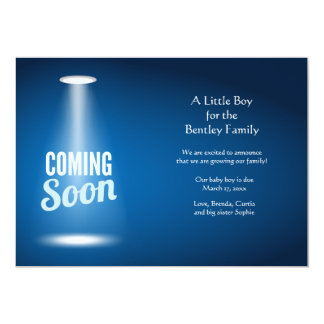 El venir pronto invitación del embarazo del invitación 12,7 x 17,8 cm