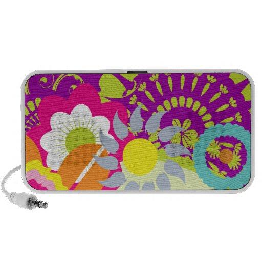 el verano colorido florece el ejemplo III del vect Notebook Altavoces