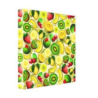 El verano da fruto lona envuelta modelo jugoso impresión en lienzo