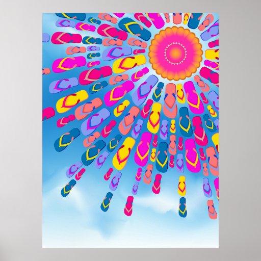 El verano enrrollado Sun Flip-Flops el poster de l