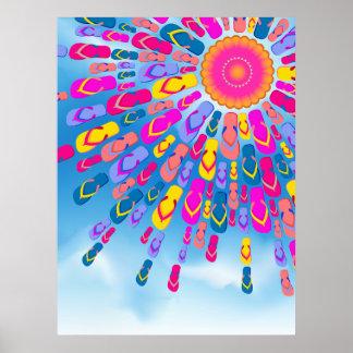 El verano enrrollado Sun Flip-Flops el poster de l Póster