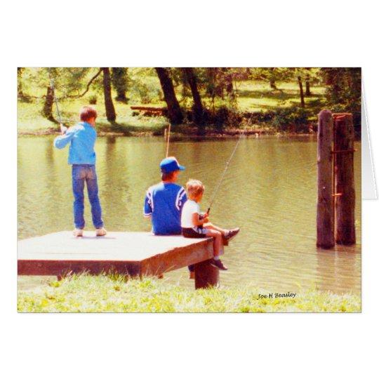 El verano está para pescar tarjeta de felicitación