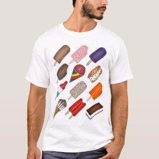 El verano trata el helado y la camiseta del
