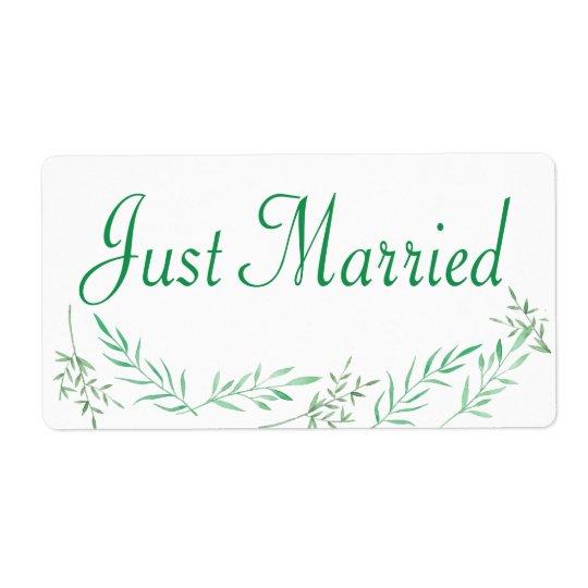 El verde acaba de casar las hojas del laurel del etiquetas de envío