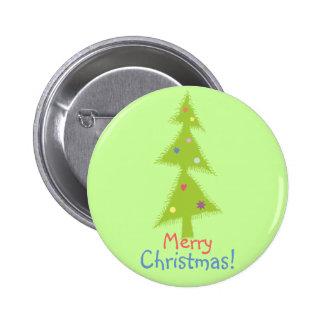 el verde adornó el árbol de navidad pins
