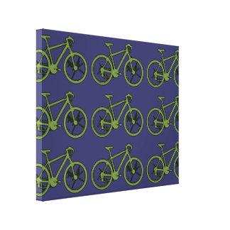 el verde bikes la pared de la decoración impresión de lienzo