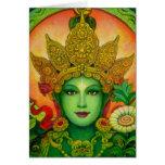 El verde budista tibetano Tara de la diosa hace fr Felicitaciones