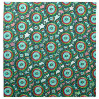 El verde circunda #3 servilleta de tela