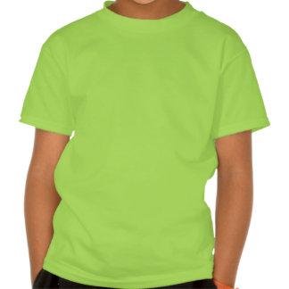 El verde de la Feliz Año Nuevo embroma la camiseta