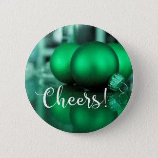 El verde de la tipografía de las alegrías entonó chapa redonda de 5 cm