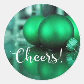 El verde de la tipografía de las alegrías entonó pegatina redonda