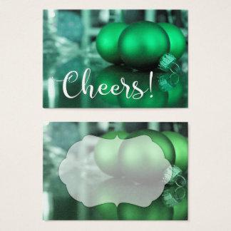 El verde de la tipografía de las alegrías entonó tarjeta de visita