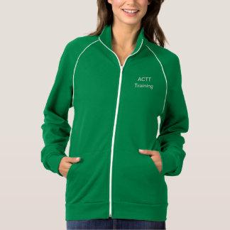 El verde de las señoras del entrenamiento de ACTT Chaqueta Deportiva