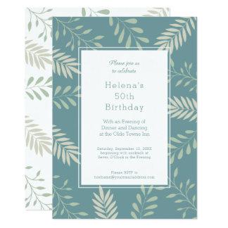 El verde deja a la 50.a fiesta de cumpleaños del invitación 12,7 x 17,8 cm