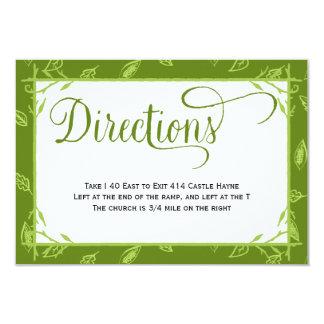 El verde deja la tarjeta de las direcciones del invitación 8,9 x 12,7 cm