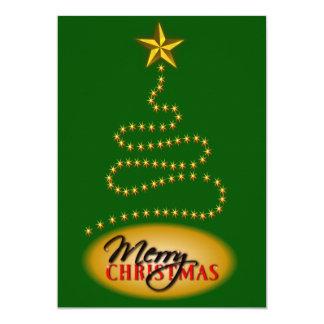 El verde del navidad y la invitación del fiesta