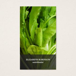 El verde elegante moderno deja al nutricionista tarjeta de negocios