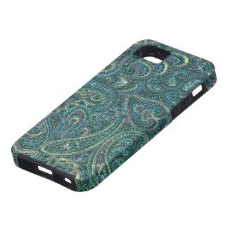 El verde entona el modelo adornado de Paisley del iPhone 5 Case-Mate Coberturas