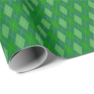 El verde entona el papel de embalaje de Argyle