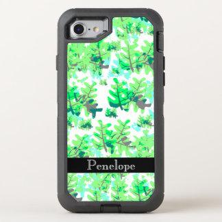 El verde fresco de la primavera deja el modelo con funda OtterBox defender para iPhone 8/7