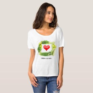 El verde para el rojo, impulsa su salud camiseta