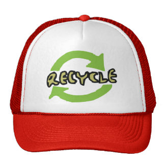 El verde recicla gorros bordados