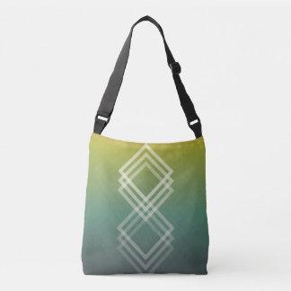 El verde se descolora bolso geométrico